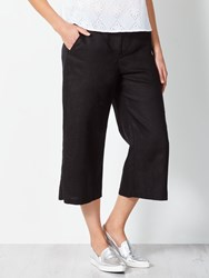 John Lewis Collection Weekend By Wide Leg Linen Trousers Black