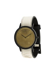 South Lane Avant Exposed Gold Watch Calf Leather Stainless Steel Nude Neutrals
