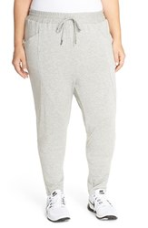 Plus Size Women's Pink Lotus 'Process' Drop Crotch Sweatpants