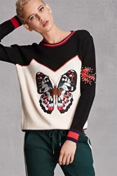 Forever 21 Cherry Paris Butterfly Sweater