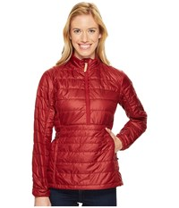 Fjall Raven Abisko Padded Pullover Ox Red Women's Coat Tan