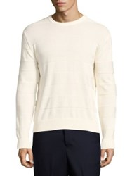 Ami Alexandre Mattiussi Striped Sweater Off White