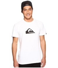 Quiksilver Mountain Wave Logo Tee White Men's T Shirt