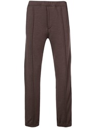 Fendi Ff Side Stripe Track Pants Brown