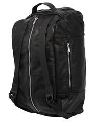 The Last Conspiracy Large Smooth Leather Backpack Black