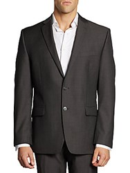 Calvin Klein Classic Fit Wool Jacket Charcoal