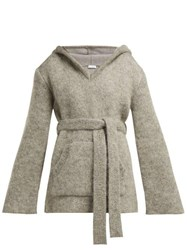 Raey Hooded Mohair Blend Sweater Grey