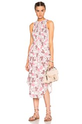 Ulla Johnson Gili Dress In White Purple Pink Floral