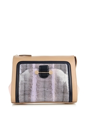 Jason Wu Daphne Snakeskin And Leather Clutch