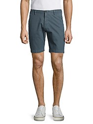 Hugo Boss Rice Cotton Blend Textured Shorts Navy