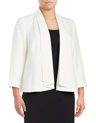 Nipon Boutique Plus Shawl Collar Blazer Vanilla