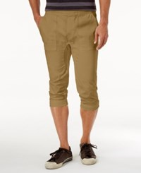 American Rag Men's Cropped Joggers Only At Macy's Dull Gold