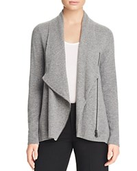 Bloomingdale's C By Cashmere Moto Cardigan Slate