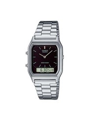 Topman Metallic Casio Core Collection Silver Metal Watch