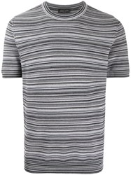 Roberto Collina Knitted Striped T Shirt 60