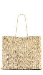 Seafolly Paper Crochet Bag In Tan. Natural