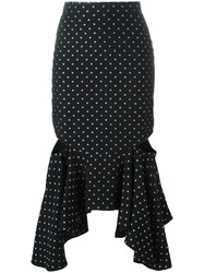 Givenchy Fitted Peplum Skirt Black