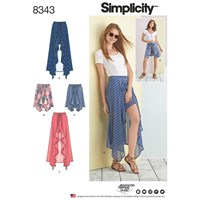 Simplicity Women's Wrap Skirt And Shorts Sewing Pattern 8343