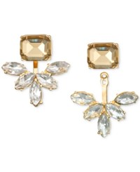 Jewel Badgley Mischka Crystal And Stone Ear Jacket Earrings Gold