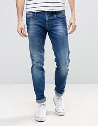 Replay Anbass Slim Fit Jean Mid Blue Wash 23C930