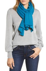Halogen Solid Cashmere Scarf Teal Gloss