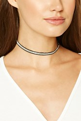 Forever 21 Ball Chain Choker Silver Black