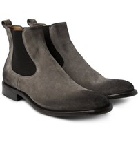 O'keeffe Bristol Oiled Suede Chelsea Boots Gray
