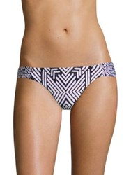 Red Carter Azteca Side Tab Hipster Bottom Navy