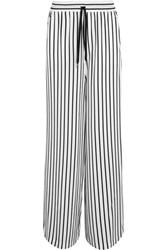 Mcq By Alexander Mcqueen Japan Striped Twill Wide Leg Pants White
