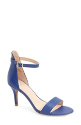 Women's Bp. 'Luminate' Open Toe Dress Sandal Blue Faux Leather