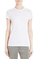 Twenty Women's Cotton And Modal Fitted Tee White