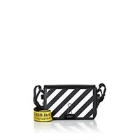 Off White C O Virgil Abloh Mini Leather Crossbody Bag Black
