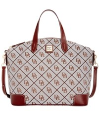 Dooney And Bourke Americana Signature Gabriella Satchel A Macy's Exclusive Style Grey Tan