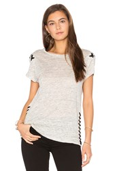 Generation Love Oliver Lace Up Tee Gray