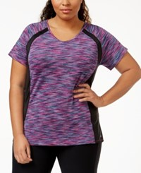 Ideology Plus Size V Neck Active Tee Only At Macy's Holiday Multi