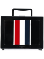 Thom Browne Lunch Box Bag With Red Black