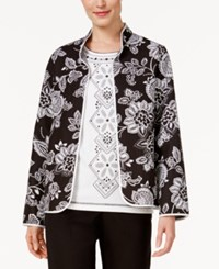 Alfred Dunner Petite City Life Quilted Reversible Floral Jacket Multi