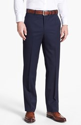 Men's Big And Tall Jb Britches Flat Front Worsted Wool Trousers Khaki