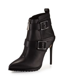 Bcbgmaxazria Alec Leather High Heel Bootie Black