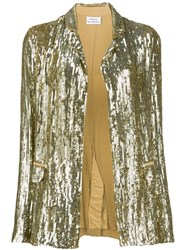 P.A.R.O.S.H. Sequinned Blazer Gold