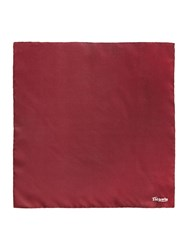 T.M.Lewin Silk Pocket Square Burgundy