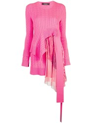 Sies Marjan Trine Cable Knit Sweater Pink