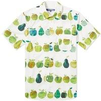Junya Watanabe Man X Tracey English Apple Print Shirt White