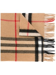 Burberry Checked Scarf Nude Neutrals