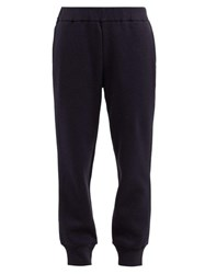 The Row Angeles Brushed Cotton Track Pants Navy