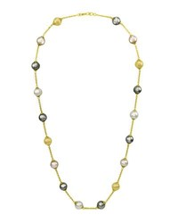 Majorica Champagne Gray And Nuage Pearl Necklace 16 White