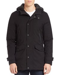 7 For All Mankind Sherpa Hood Lined Coat Black