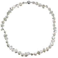 A B Davis Keshi River Pearl Magnetic Clasp Necklace White