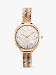 Ted Baker 'S Elena Metal Strap Watch Rose Gold