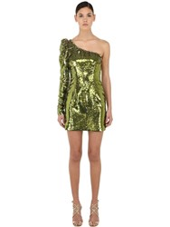 Amen Sequined Asymmetrical Mini Dress Array 0X58e1ba0